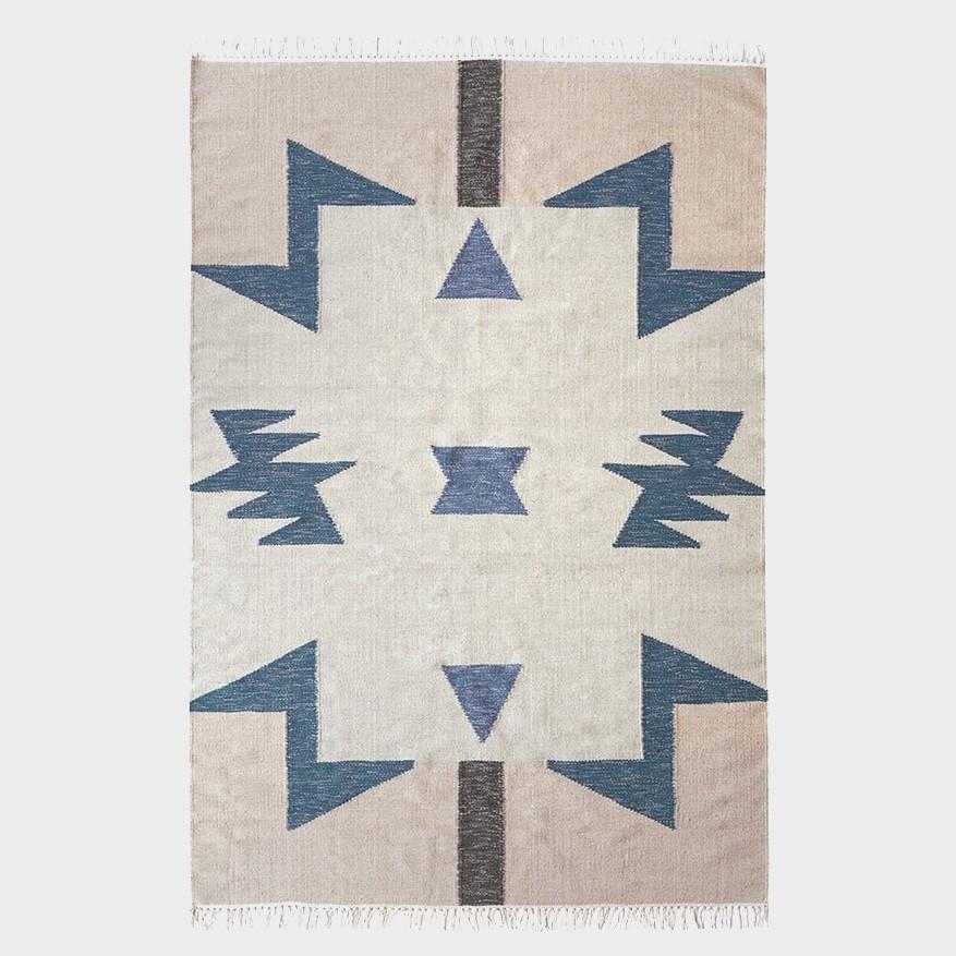 Kelim Rug *Blue Triangles